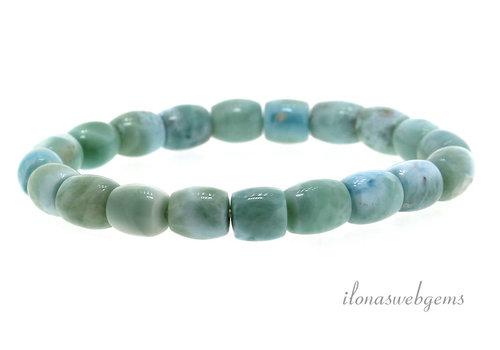 Larimar bead bracelet approx. 9x8mm