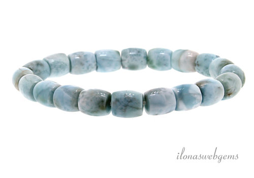 Larimar bead bracelet approx 9.5x8mm