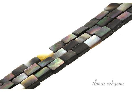 Black lip shell kralen ca. 9x6mm