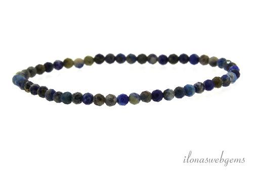 Lapis lazuli facet armbandje