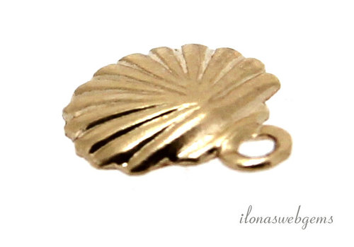 14k / 20 Gold filled charm shell about 7mm