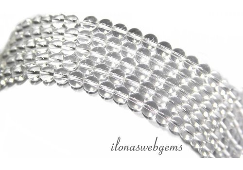 Bergkristal kralen rond ca. 4.5 mm A kwaliteit