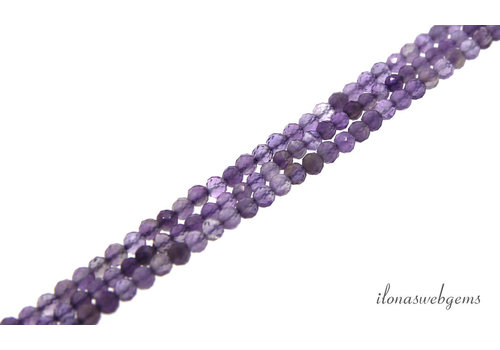 Amethyst beads faceted around 2.5mm AA cut