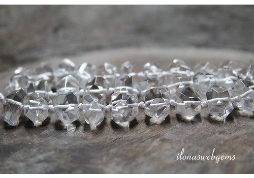Herkimer Diamant kralen op en alopend van ca. 13x9 tot 14x10mm