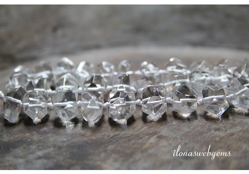 Herkimer Diamond beads up and down from approx. 10x8 to 15x9mm