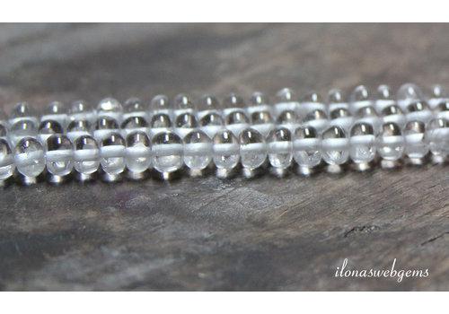 Bergkristal kralen rondel ca. ca.6x3.5mm