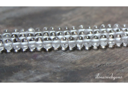 Rock crystal beads roundel approx. 6x3.5mm