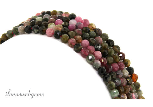 Tourmaline beads faceted around 4mm AA quality cut