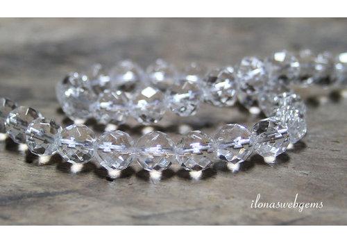 Bergkristal kralen grote facet ca. 10mm A kwaliteit