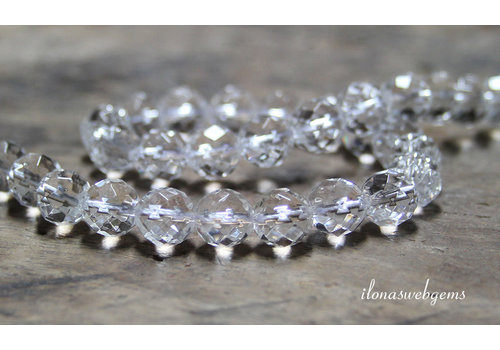 Rock crystal beads large facet about 10mm A quality