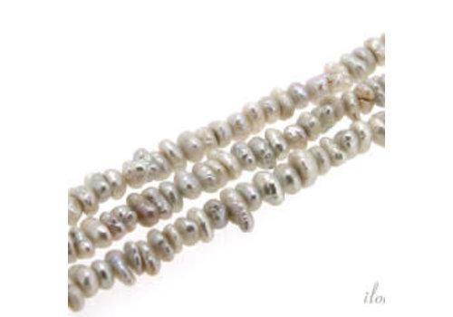Freshwater pearls gray mini approx 4-5mm
