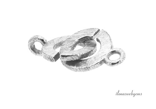 Sterling silver puzzle lock brushed approx. 10 mm