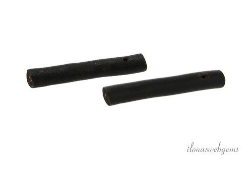 1 paar Zwarte Sponskoraal stokjes ca. 40x4mm
