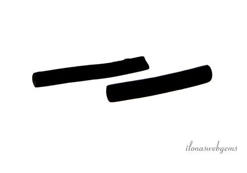 1 paar Zwarte Sponskoraal stokjes ca. 25x4mm