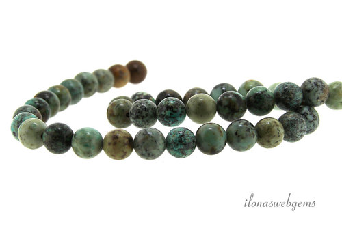 African Turquoise beads about 8.5mm