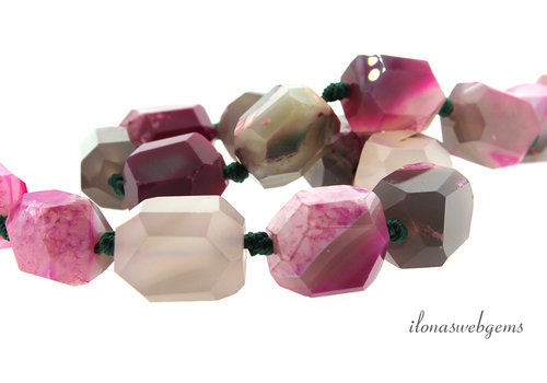 Agate beads free shape approx. 21x15mm