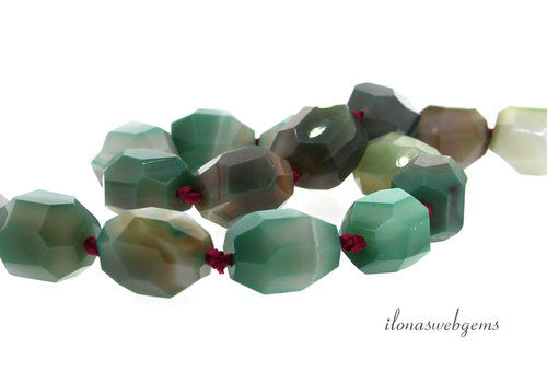 Agate beads free shape approx.20x15mm