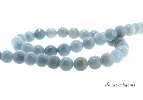 Aquamarine beads around 6mm