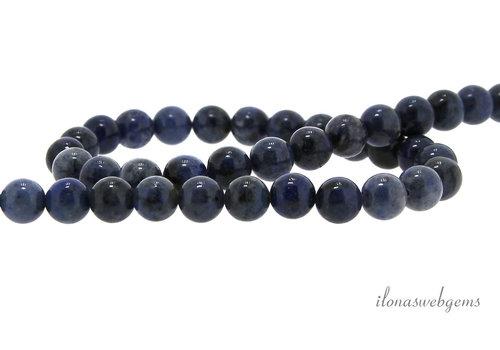 Dumortierite beads around 8mm