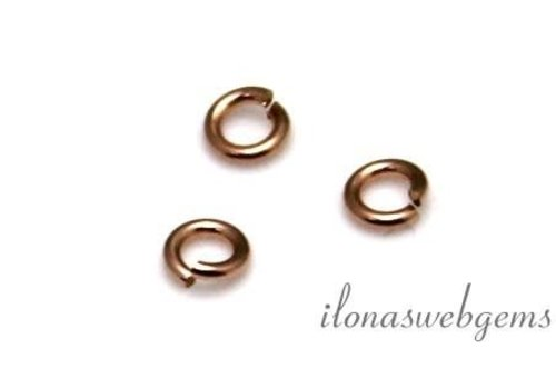 14k/20 Rosé Gold filled open oogje ca. 3.5x0.8mm
