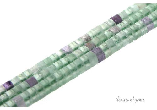 Fluoriet kralen Heishi ca. 4x2mm