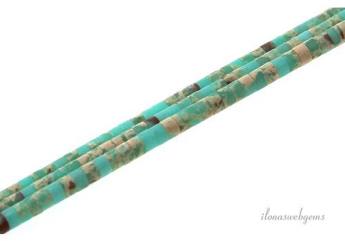 Serpentine kralen Heishi ca. 3x2mm