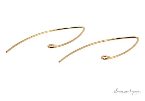 14k/20 Gold filled oorhaakjes ca. 35mm