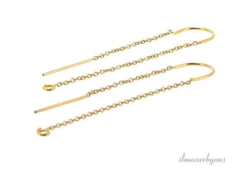 14k/20 Gold filled doortrek oorbellen ca. 49mm