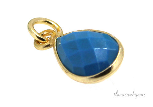 Vermeil pendant with Turquoise about 10mm