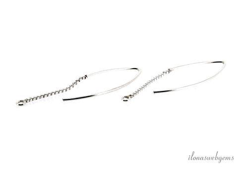 Sterling zilveren oorhaakjes met Venetiaanse ketting