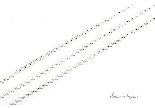 10 cm Sterling zilveren  Jasseron ketting