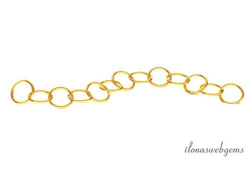 14 krt gouden verlengkettinkje 3cm