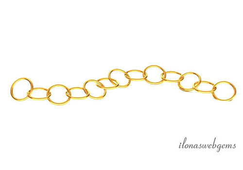 14 kt gold extension chain, 3 cm