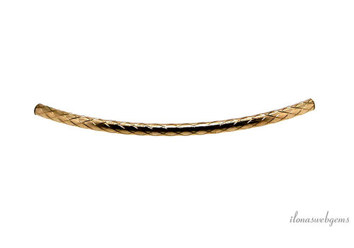 Gold filled gebogen buiskraal ca. 35x1.5mm