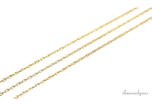 Gold filled schakels / ketting 1