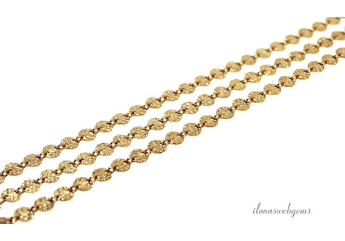 1cm Gold filled links / chain labels approx. 4mm