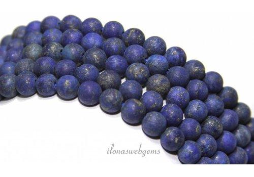 Lapis lazuli kralen mat rond ca. 4.5mm