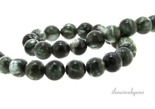 Seraphinite beads around 12.5mm