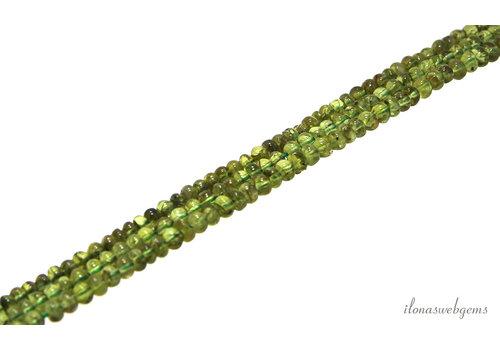 Peridot beads roundel around 5.4x4mm