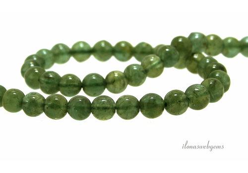 Apatite beads green around 6.5mm
