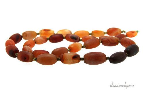 Carnelian beads about 12x10x8mm