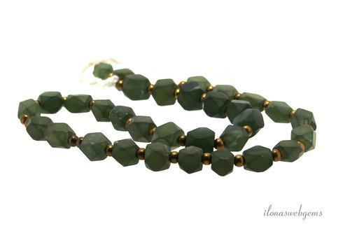 Jade kralen facet ca. 10x7mm