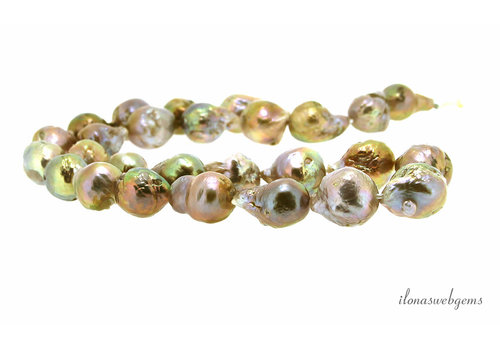Baroque pearls / Baroque lilac-gold approx. 12-15x22mm