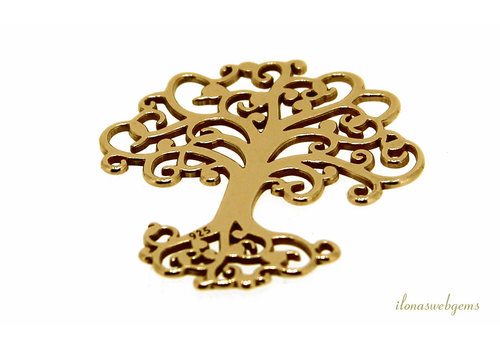 Vermeil pendant tree of life about 18mm