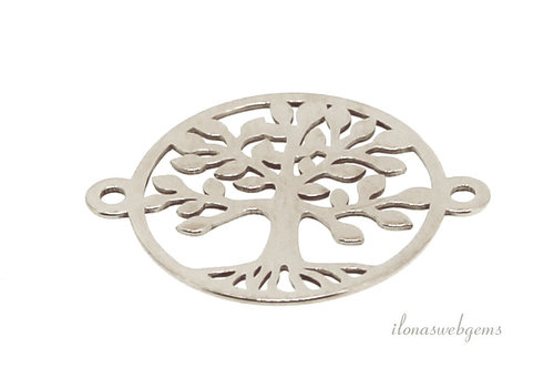 Sterling zilveren connector levensboom ca. 15x19mm