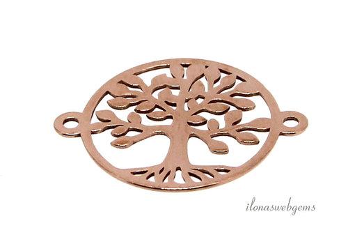 Rosé Vermeil connector levensboom ca. 15x19mm