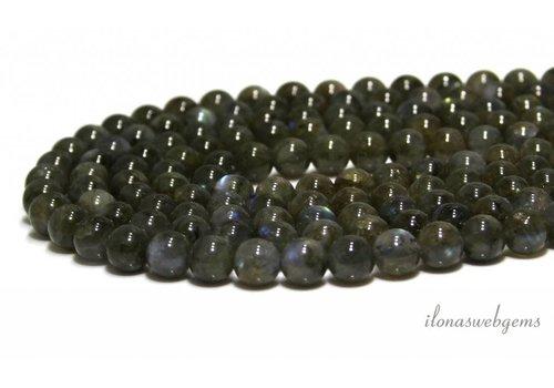 Labradorite beads green around 8mm