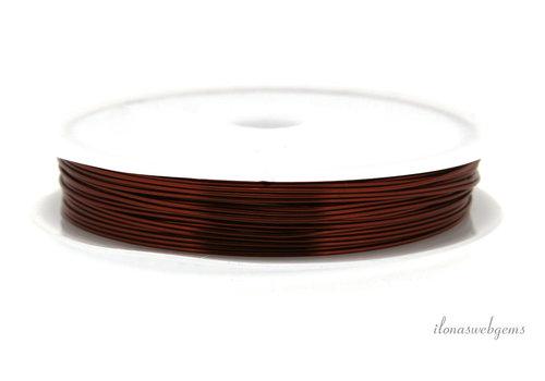 Wire draad rood ca. 0.40mm