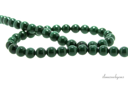 "Malachite beads round ""dark"" about 6mm"
