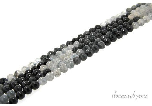 Blue Rutile Quartz beads around 8mm